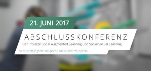 Grafik mit Informationen zur Abschlussveranstaltung, die am 21. Juni 2017 im Gästehaus der Universität Wuppertal stattfindet.