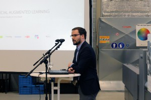 Dominic Fehling beim Vortrag
