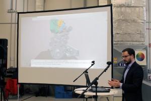 Dominic Fehling präsentiert das 3D-Modell