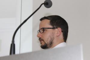 Dominic Fehling am Rednerpult