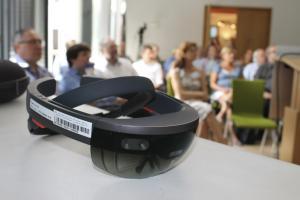 Nahaufnahme der Microsoft Hololens