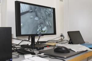 Blick auf die Darstellung der Anwendung am Monitor