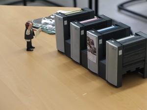 Miniatur-Druckmaschine