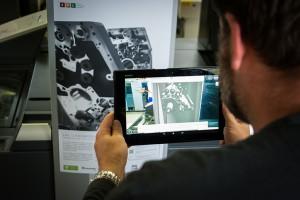 Tablet im AR-Modus