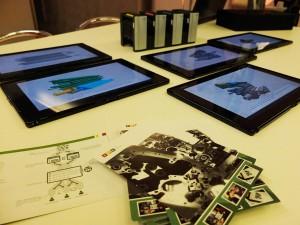 Tablets und Info-Flyer