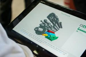 Tablet mit geöffneter Autorenumgebung