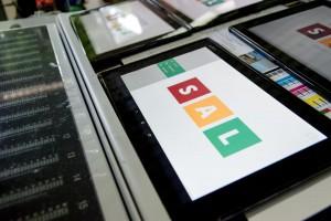 Tablet mit Startmenü