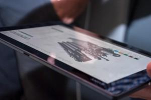 Darstellung der Autorenumgenung auf einem Tablet